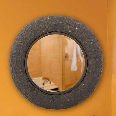 World Menagerie Round Copper Metal Mirror