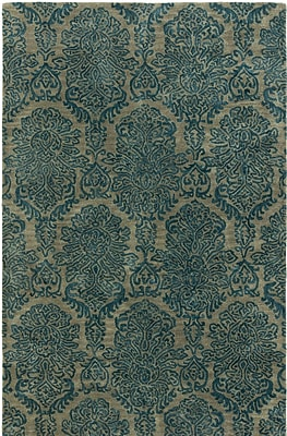 Charlton Home Allenport Hand-Tufted Blue Area Rug; 3'6'' x 5'6''