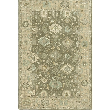 Charlton Home Allenwood Driftwood Hand-Tufted Brown Area Rug; 9'6'' x 13'
