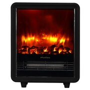 Puraflame Octavia Portable 1500 Watt Electric Cabinet Heater; Black