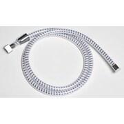 Evideco 79'' PVC Biflex Flexible Handheld Shower Hose; White/Chrome