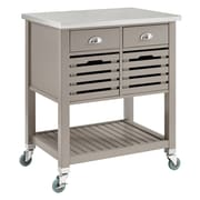 August Grove Eve Kitchen Cart w/ Stainless Top