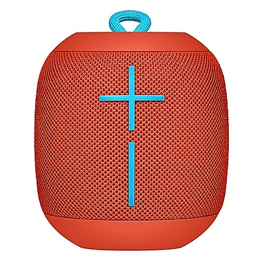 Logitech Ultimate Ears (UE) WonderBoom Waterproof Bluetooth Speaker, Fireball Red (984-000841)