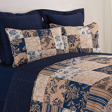 August Grove Bouchette Reversible Quilt Set; Twin