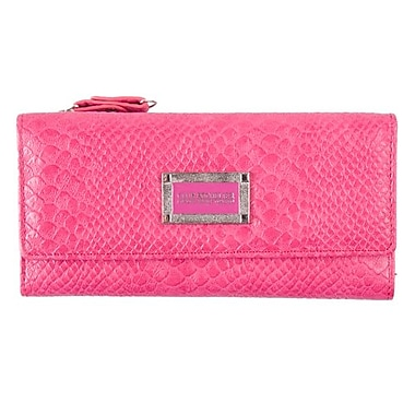 Club Rochelier Kassandra Collection, Pink Slim Wallet with Zipper Pocket (DCL7871-S8-PK)