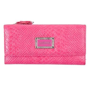 Club Rochelier – Portefeuille mince avec pochette à fermeture éclair de collection Kassandra, rose (DCL7871-S8-PK)