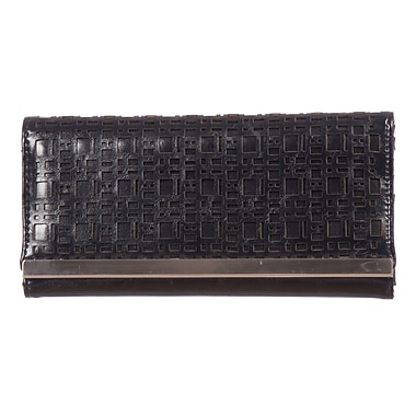 Club Rochelier Sarah Collection, Black Slim Clutch Wallet (DCL9371-S1-BLK)