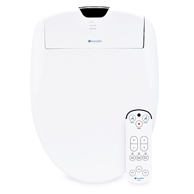 Brondell Swash 1200 Luxury Bidet Toilet Seat, Elongated, White (S1200-EW)