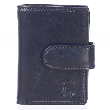 Club Rochelier Traditional Collection, Navy Jumbo Card Holder (4414-2-NAVY)