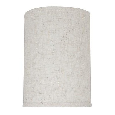 Aspen Creative Corporation 8'' Linen Drum Lamp Shade; Flaxen