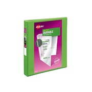 """1"""" Avery® Durable View Binder with Slant-D Rings, Bright Green"""