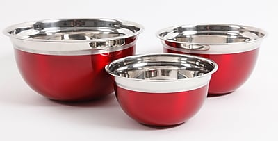 Gibson Oster 3-Piece Stainless Steel Mixing Bowl