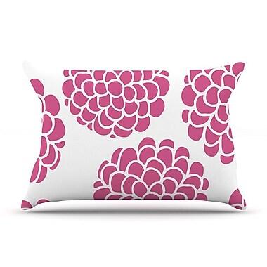 East Urban Home Pom Graphic Design 'Grape Blossoms' Circles Pillow Case; Magenta Pink