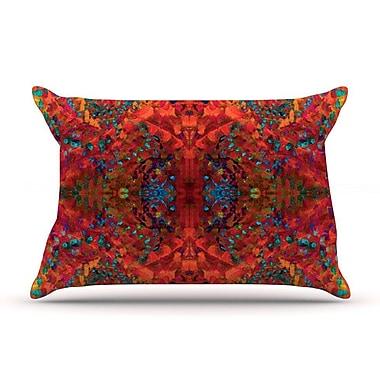 East Urban Home Nikposium 'Boysenberry' Pillow Case; Orange
