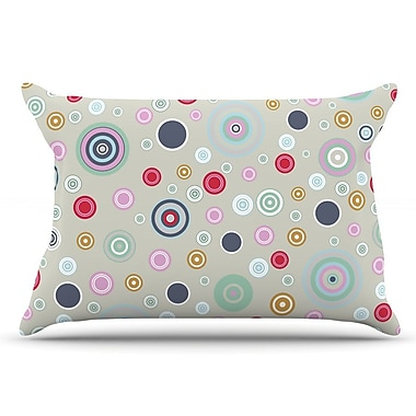 East Urban Home Suzanne Carter 'Circle Circle I' Pillow Case; Gray/Brown