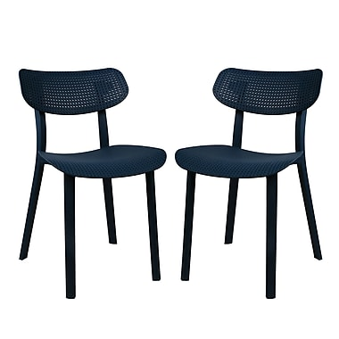 Ivy Bronx Paxton Dining Side Chair (Set of 2); Deep Blue