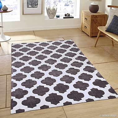 AllStar Rugs Hand-Woven Gray Area Rug; 7'7'' x 10'6''