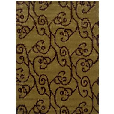 Winston Porter Marisela Hand-Tufted Green/Brown Area Rug; 8' x 10'