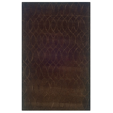 Winston Porter Jaqueline Hand-Tufted Brown Area Rug; 8' x 11'