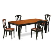Darby Home Co Beesley 5 Piece Black/Cherry Dining Set; Cherry