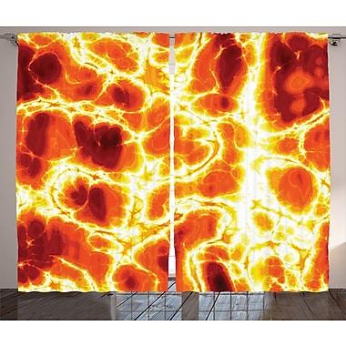 Latitude Run Jaque Graphic Print and Text Semi-Sheer Rod Pocket Curtain Panels (Set of 2)