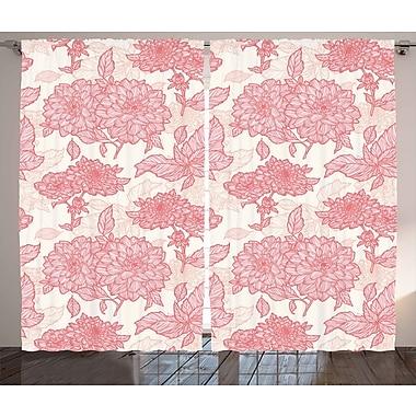 Ophelia & Co. Kaia Flowers Decor Geometric Semi-Sheer Rod pocket Curtain Panel (Set of 2)