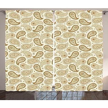Red Barrel Studio Townville Graphic Print and Text Semi-Sheer Rod Pocket Curtain Panels (Set of 2)