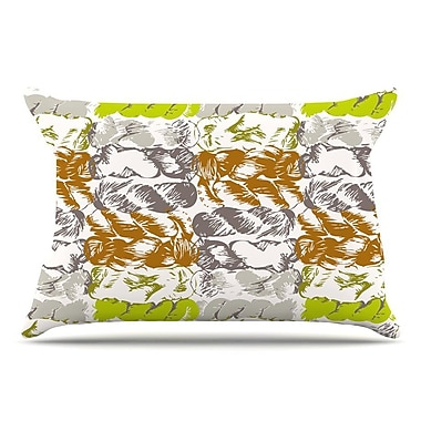 East Urban Home Fernanda Sternieri 'Nice Knot' Pillow Case; Gray/Orange