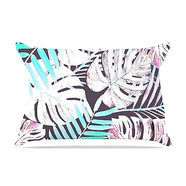 East Urban Home Alison Coxon 'Midnight Jungle' Pillow Case; Pink/Blue