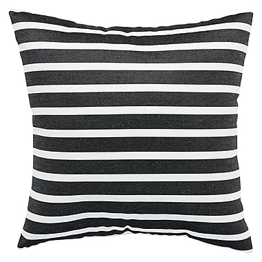 Ebern Designs Meaghan Stripe Indoor/Outdoor Throw Pillow; 20'' H x 20'' W x 6'' D