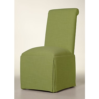 Latitude Run Arvidson Solid Back Skirted Parsons Chair; Lime