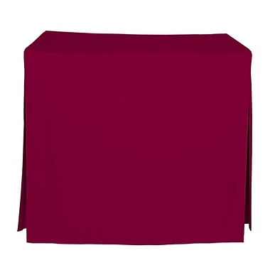 Tablevogue 48'' W Fitted Tablecloth; Garnet
