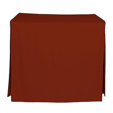 Tablevogue 34'' W Fitted Tablecloth; Paprika