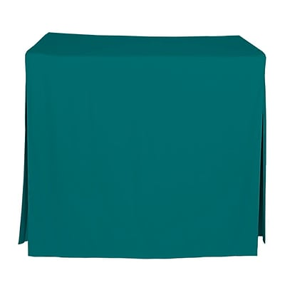 Tablevogue 34'' W Fitted Tablecloth; Peacock