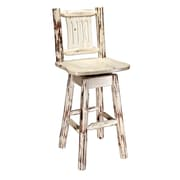 Loon Peak Abordale 30'' Square Seat Swivel Bar Stool; Lacquered