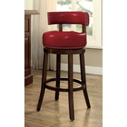Latitude Run Aguirre Contemporary 30'' Swivel Bar Stool (Set of 2); Red