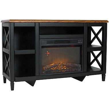 August Grove Baden Comfort Glow 48'' TV Stand w/ Electric Fireplace