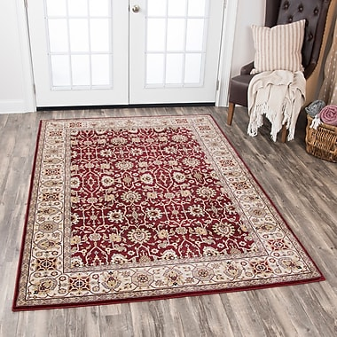 Astoria Grand Adkisson Red Area Rug; 6'7'' x 9'6''