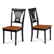 Darby Home Co Inwood Solid Wood Dining Chair (Set of 2); Black/Cherry