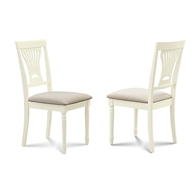 Darby Home Co Inwood Soft Padded Dining Side Chair (Set of 2); Buttermilk/Off White
