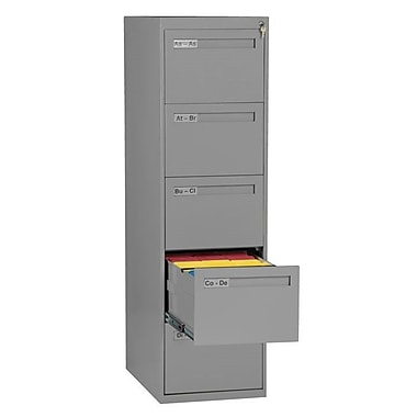 Symple Stuff 4 Drawer Vertical Filing Cabinet; Medium Gray