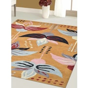 Winston Porter Britany Hand-Tufted Wool Gold Area Rug; Round 8'