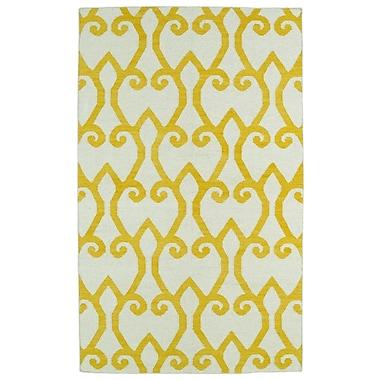 Winston Porter Gillespie Yellow/Ivory Geometric Area Rug; 8' x 10'