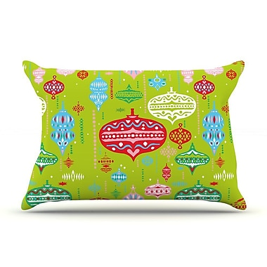 East Urban Home Miranda Mol 'Ornate' Ornaments Pillow Case; Green