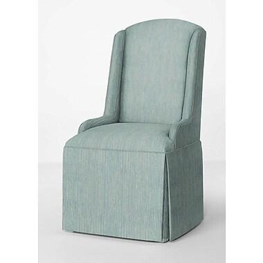 Red Barrel Studio Doric Petite Wing Back Skirted Parsons Chair; Bahama