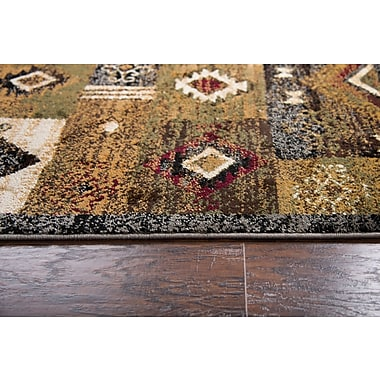 Red Barrel Studio Phillip Gold Area Rug; 8' x 10'