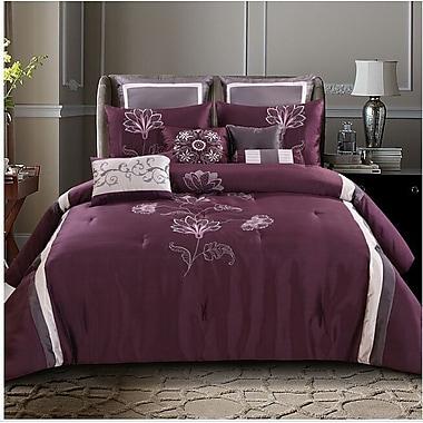 Red Barrel Studio Norristown 10 Piece Comforter Bed Set; Queen