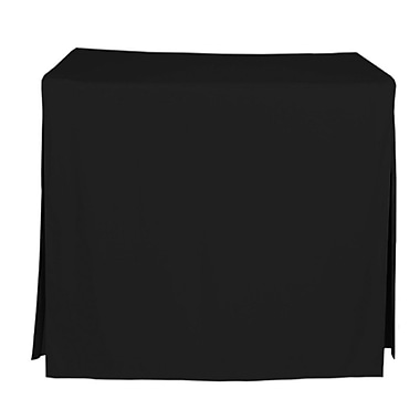 Tablevogue 60'' W Fitted Tablecloth; Black