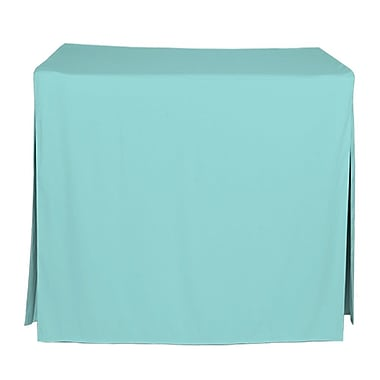Tablevogue 48'' W Fitted Tablecloth; Turquoise