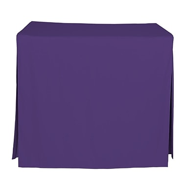 Tablevogue 96'' W Fitted Tablecloth; Violet